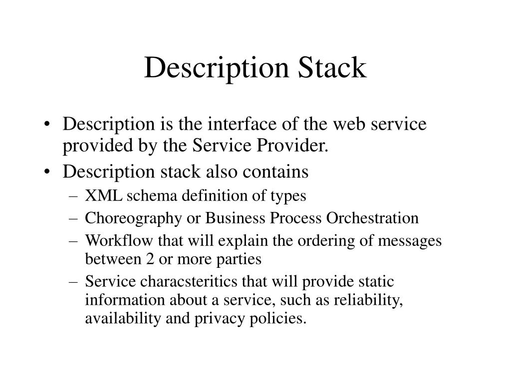 Description Stack
