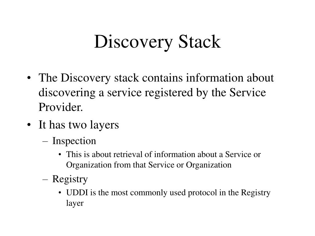 Discovery Stack