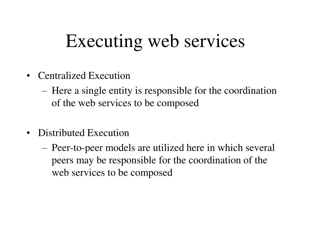 Executing web services