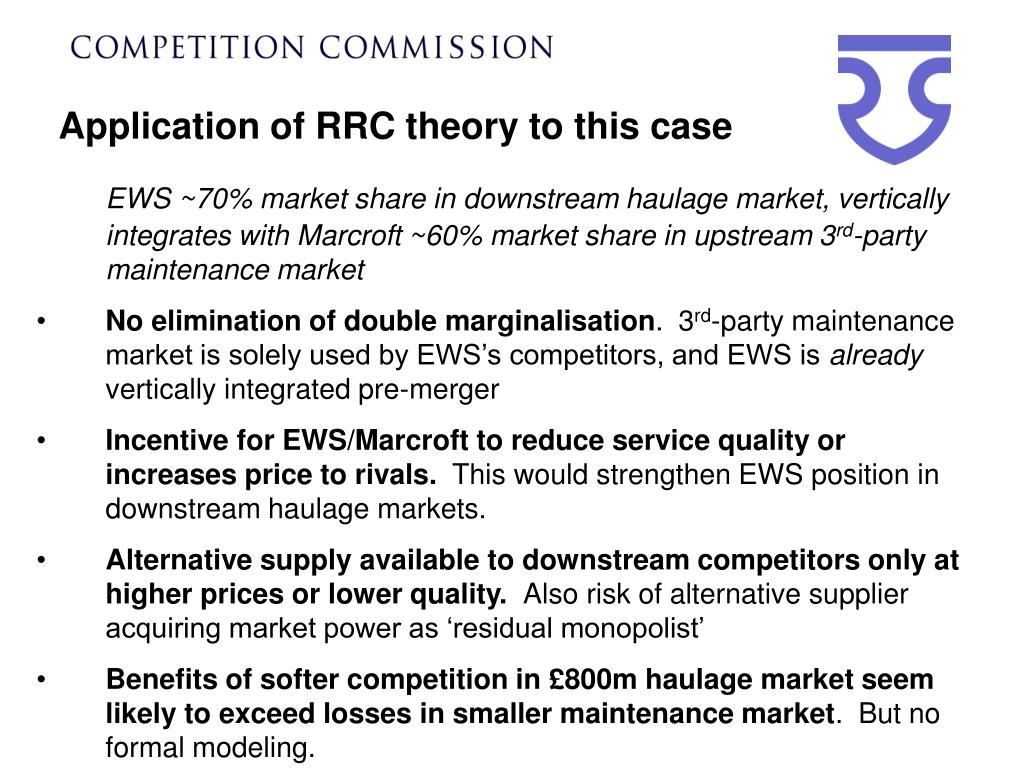 Application of RRC theory to this case