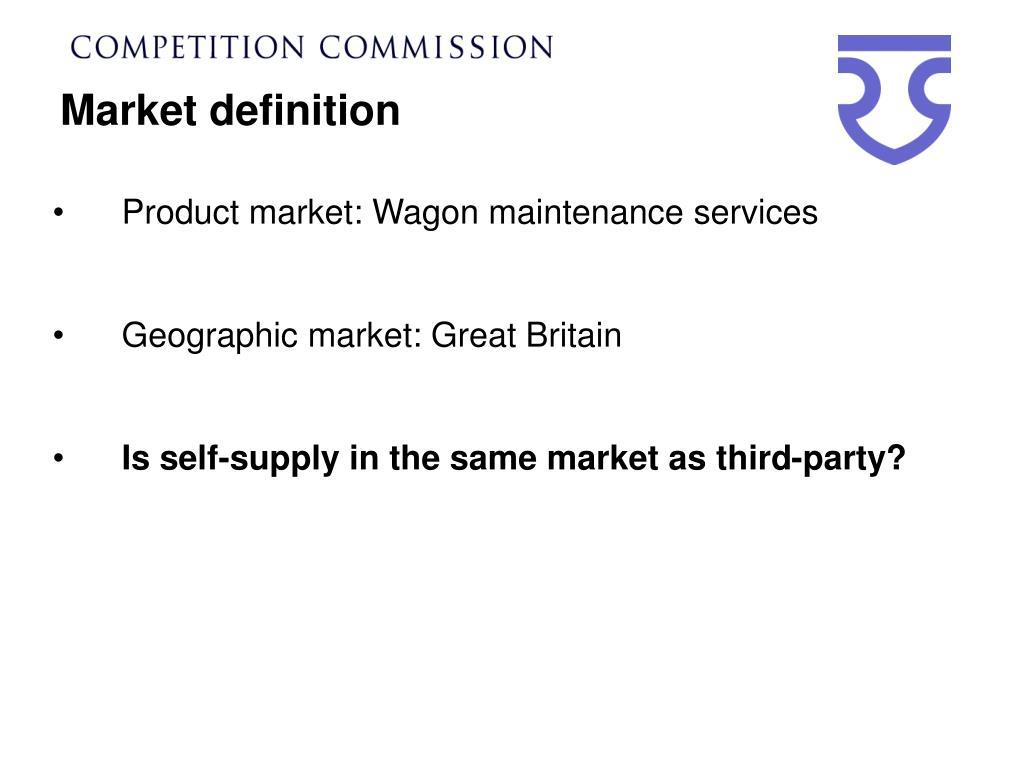 Market definition