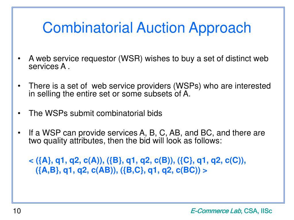 Combinatorial Auction Approach