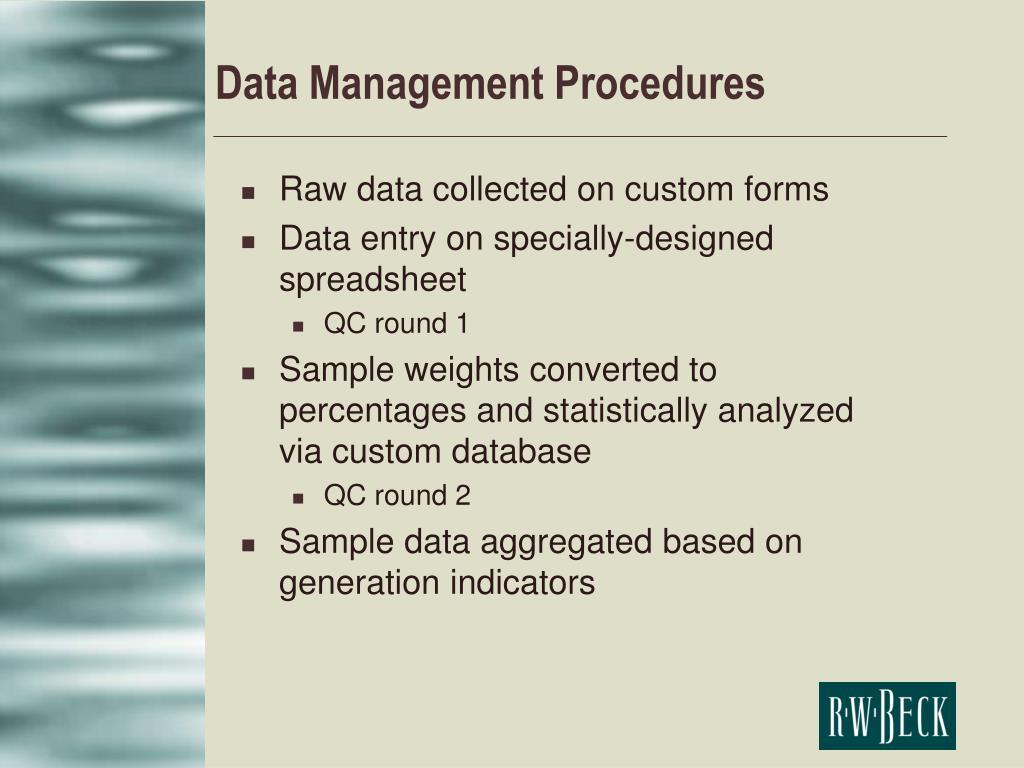 Data Management Procedures