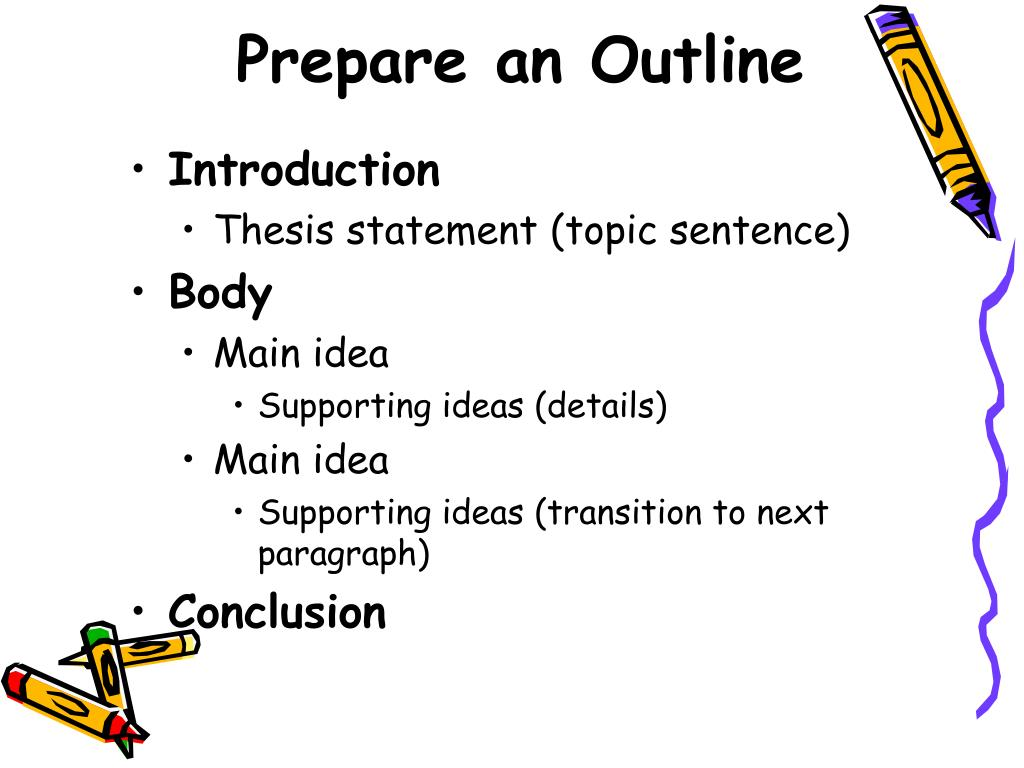 Prepare an Outline