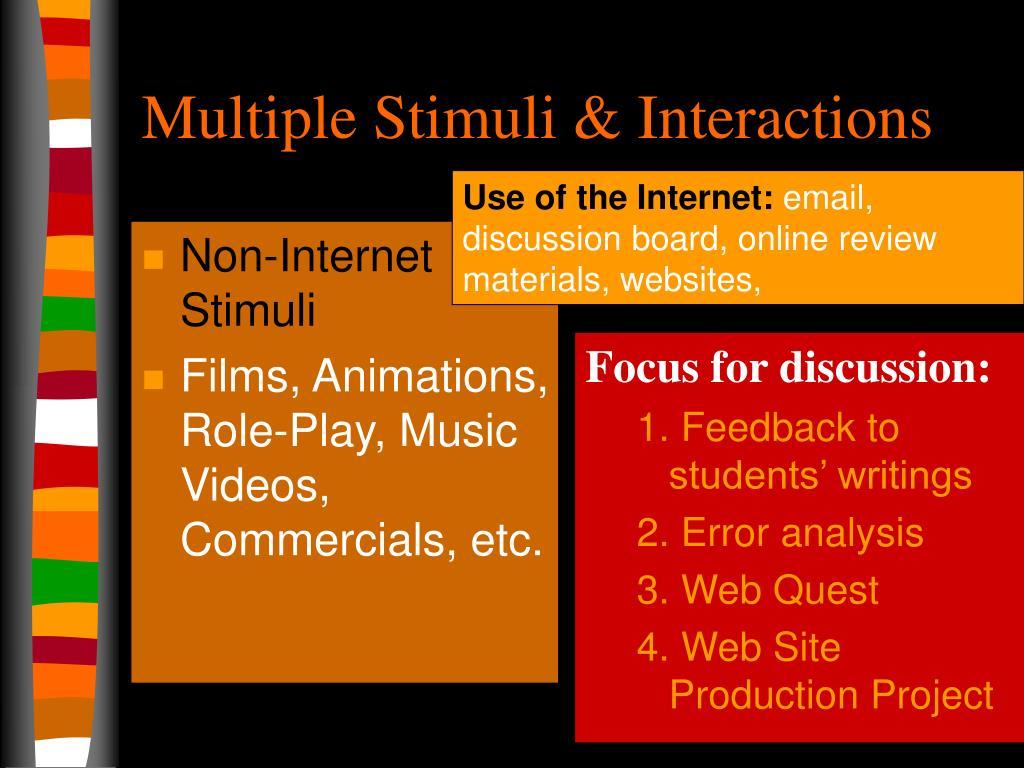Non-Internet Stimuli
