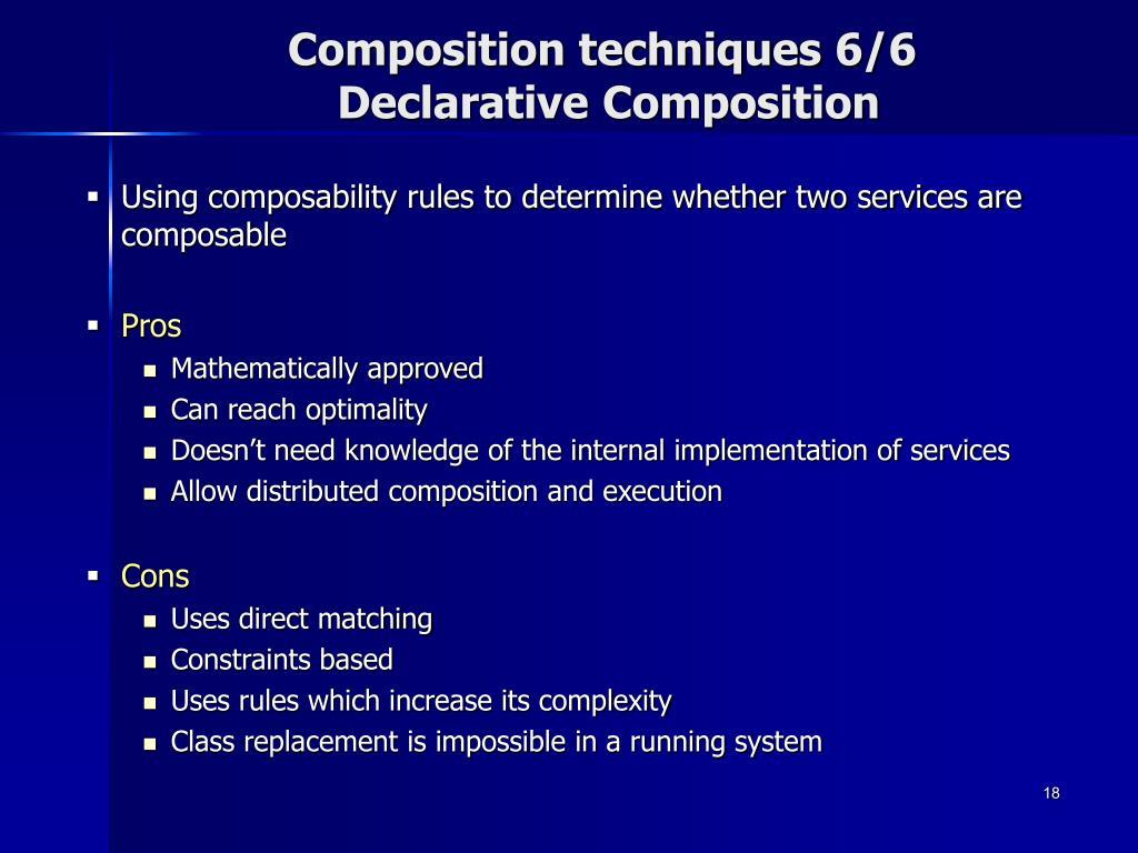 Composition techniques 6/6