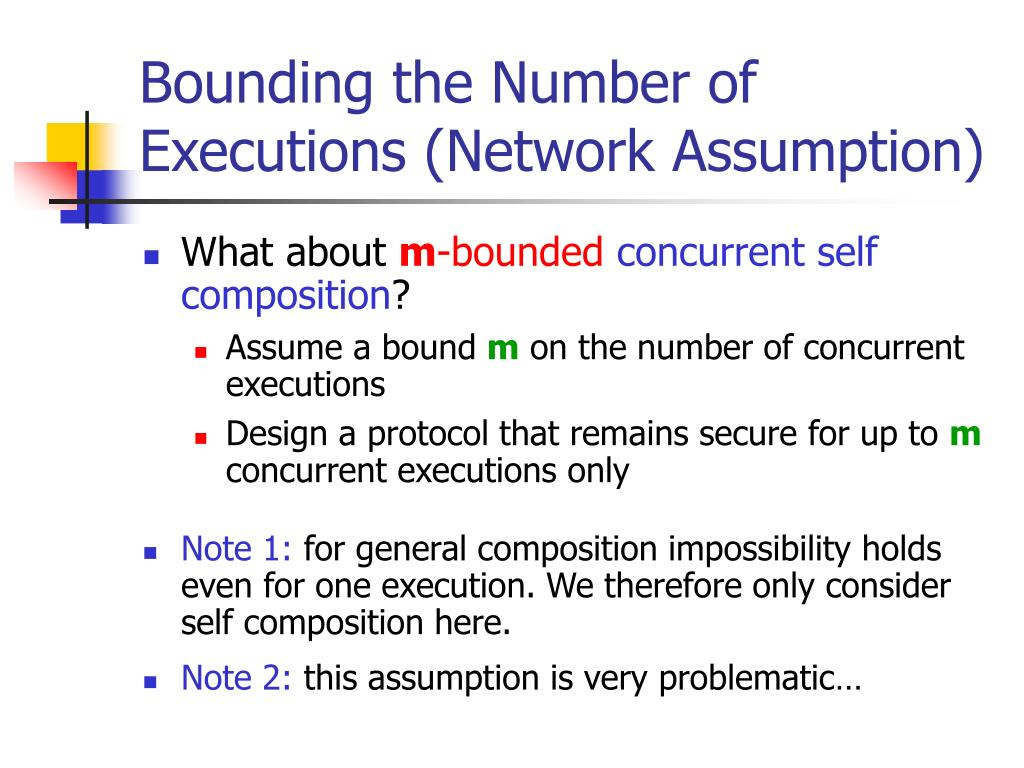 Bounding the Number of Executions (Network Assumption)