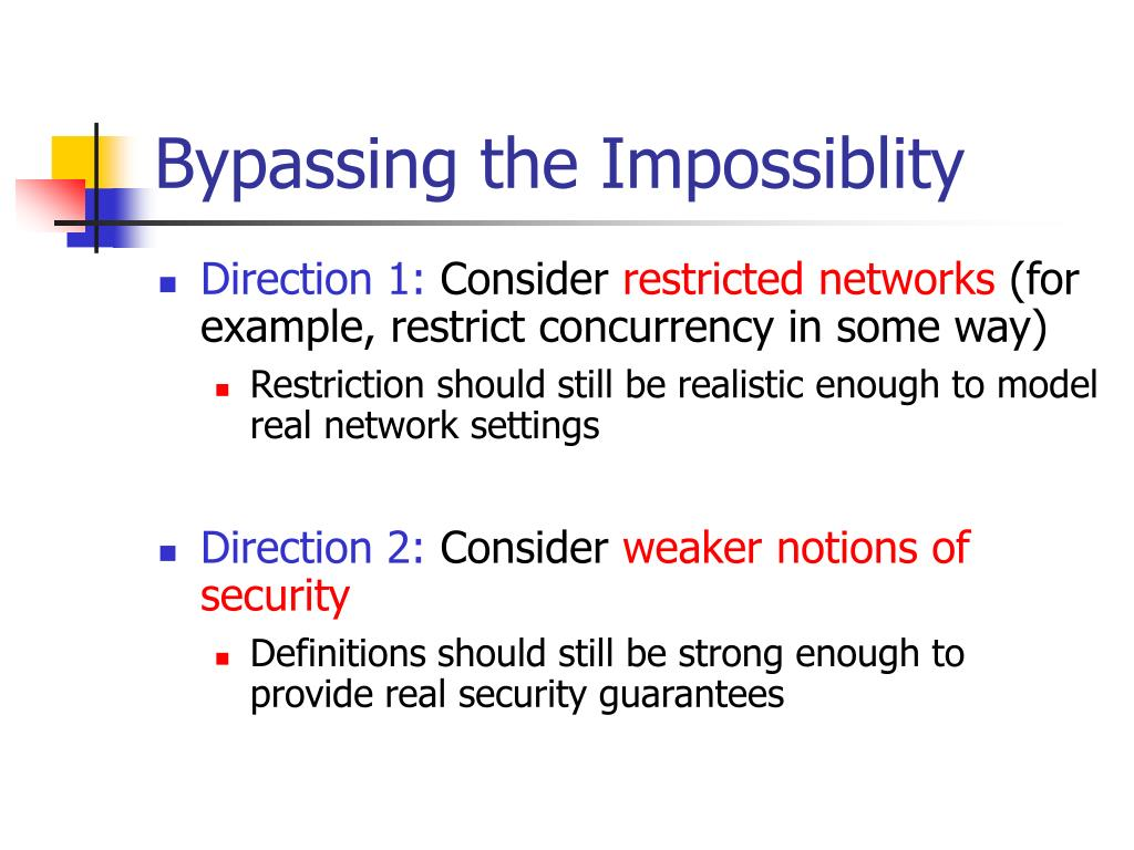 Bypassing the Impossiblity