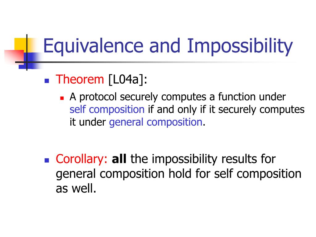 Equivalence and Impossibility