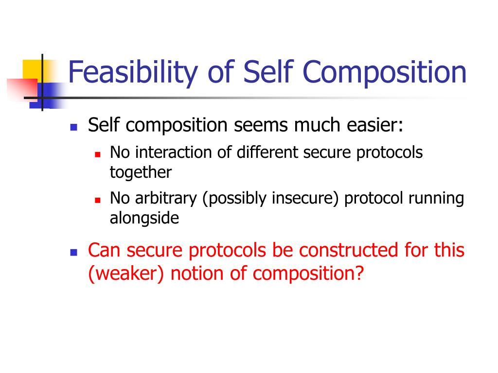 Feasibility of Self Composition