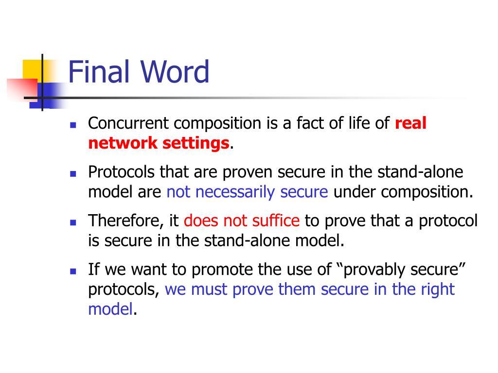 Final Word