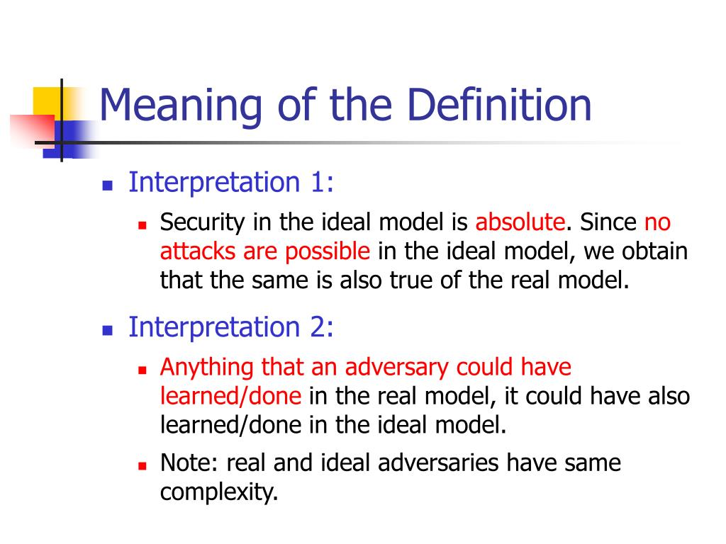 Meaning of the Definition