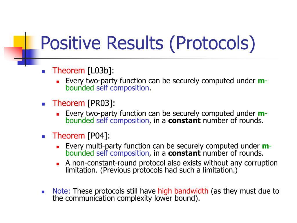 Positive Results (Protocols)