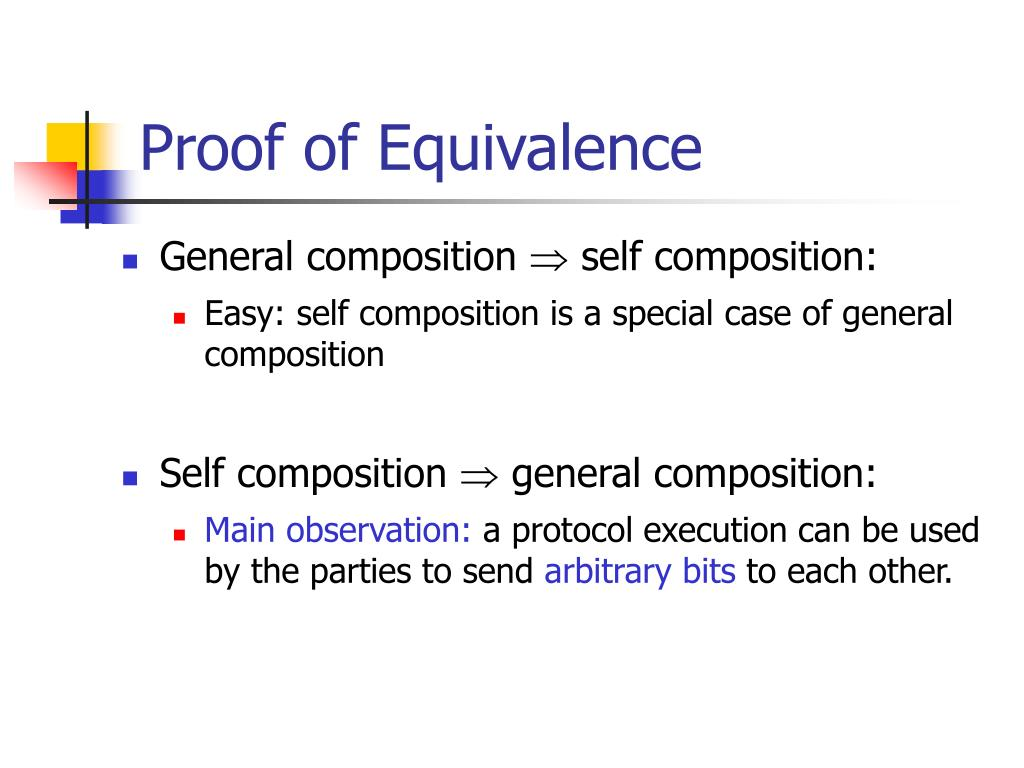 Proof of Equivalence