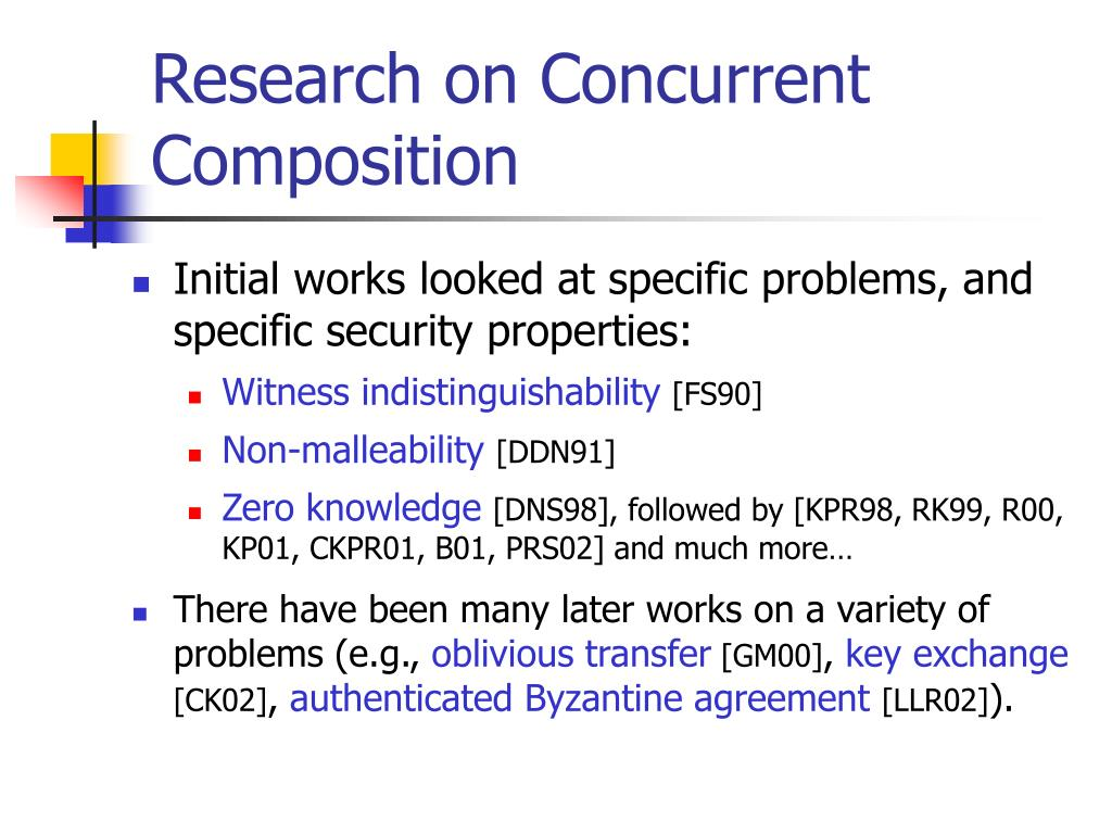 Research on Concurrent Composition