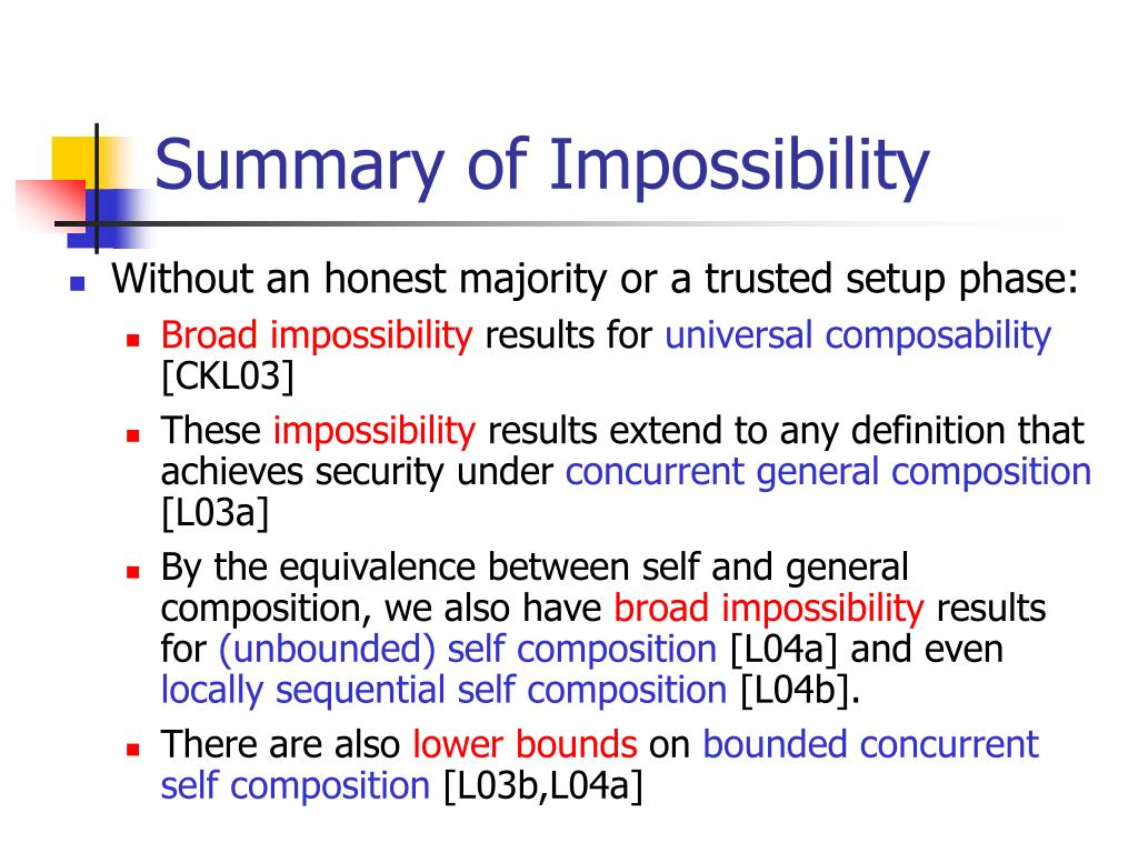 Summary of Impossibility