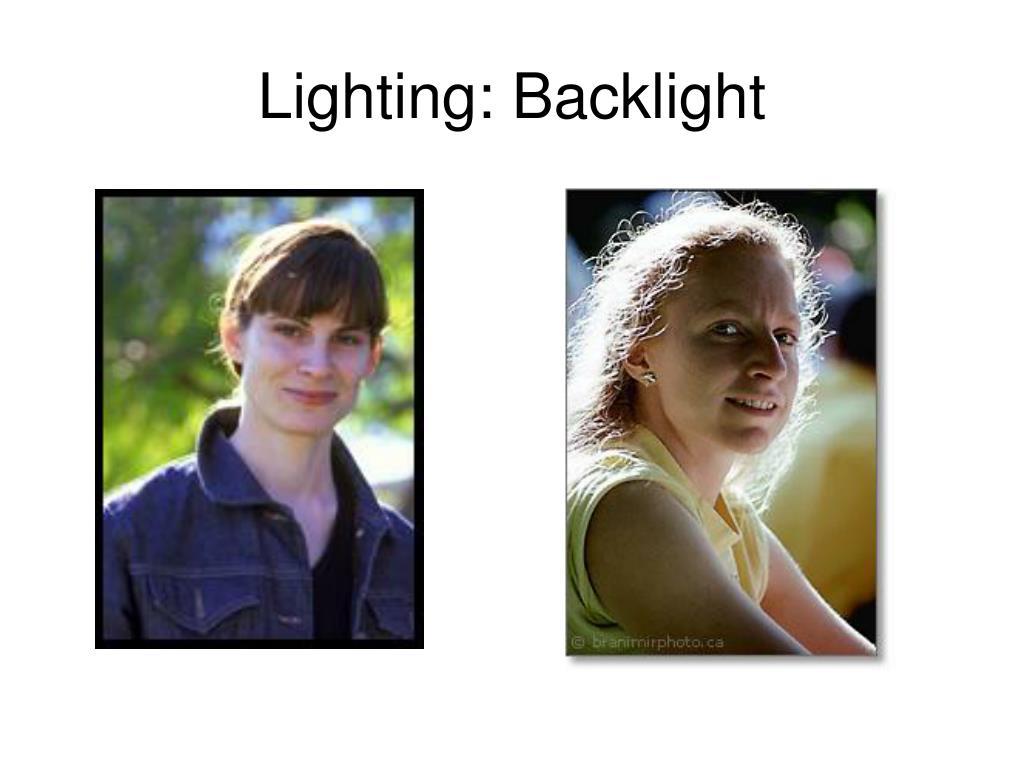 Lighting: Backlight