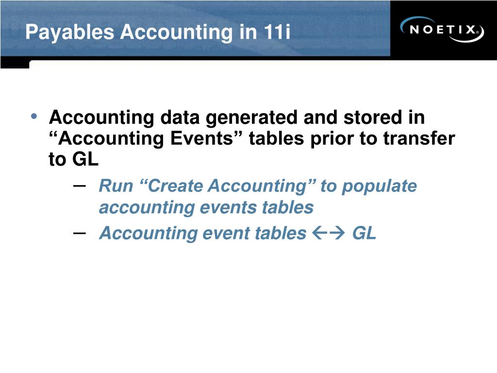 Payables Accounting in 11i