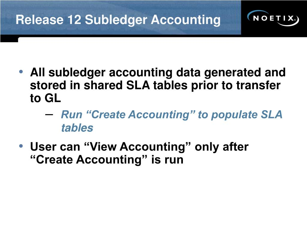 Release 12 Subledger Accounting