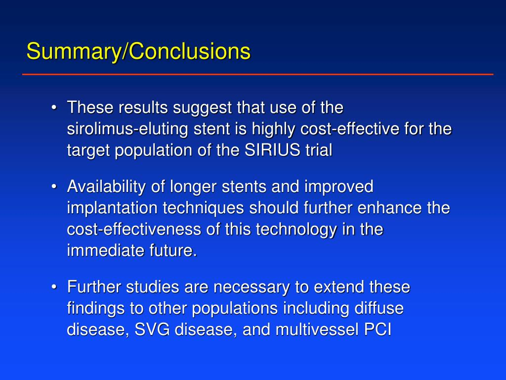 Summary/Conclusions