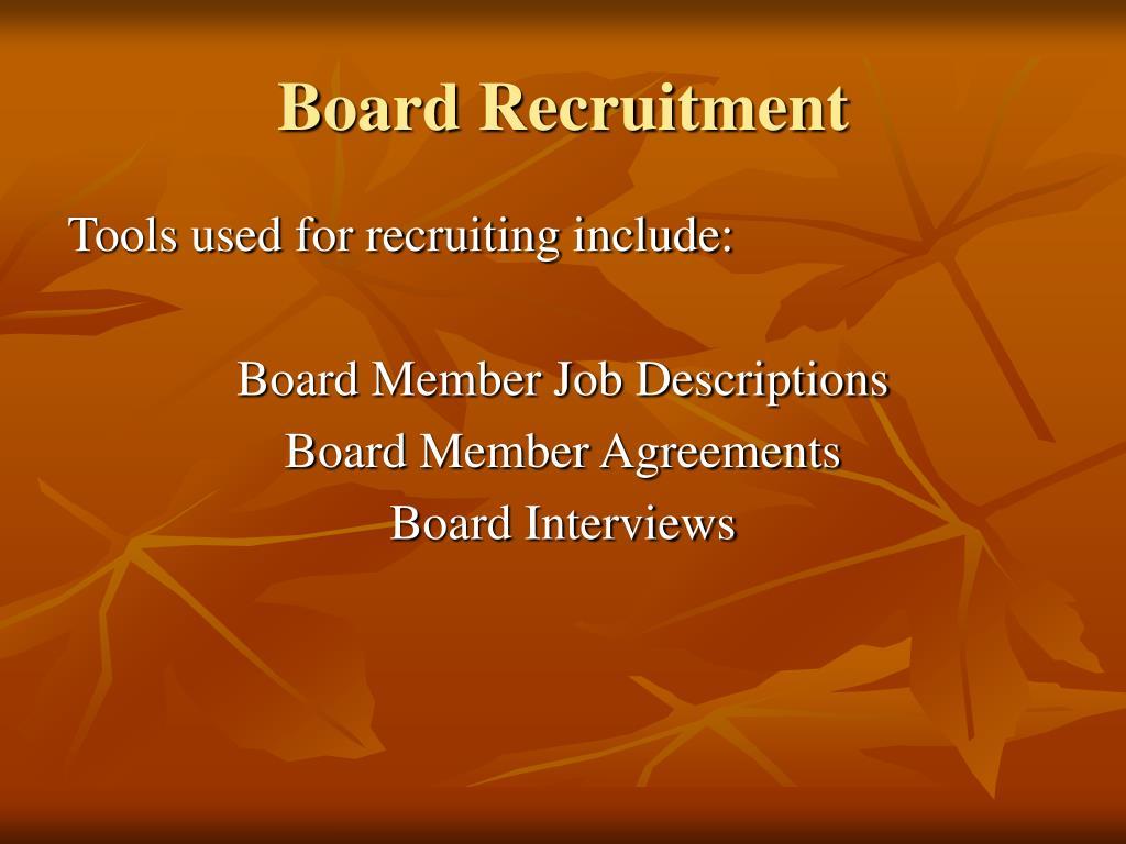 Board Recruitment