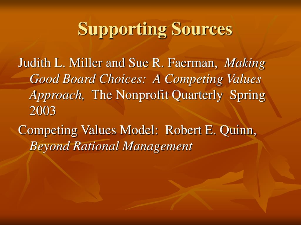 Supporting Sources