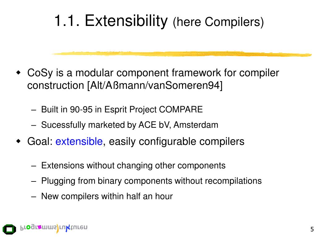 1.1. Extensibility