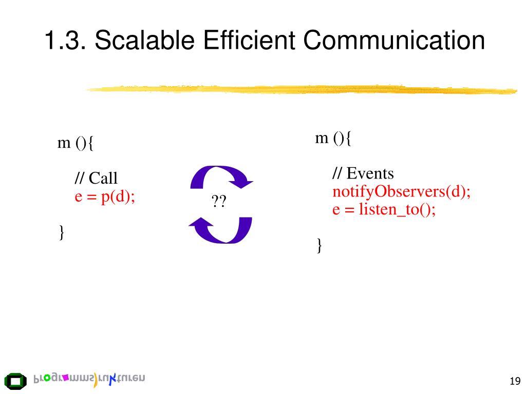 1.3. Scalable Efficient Communication