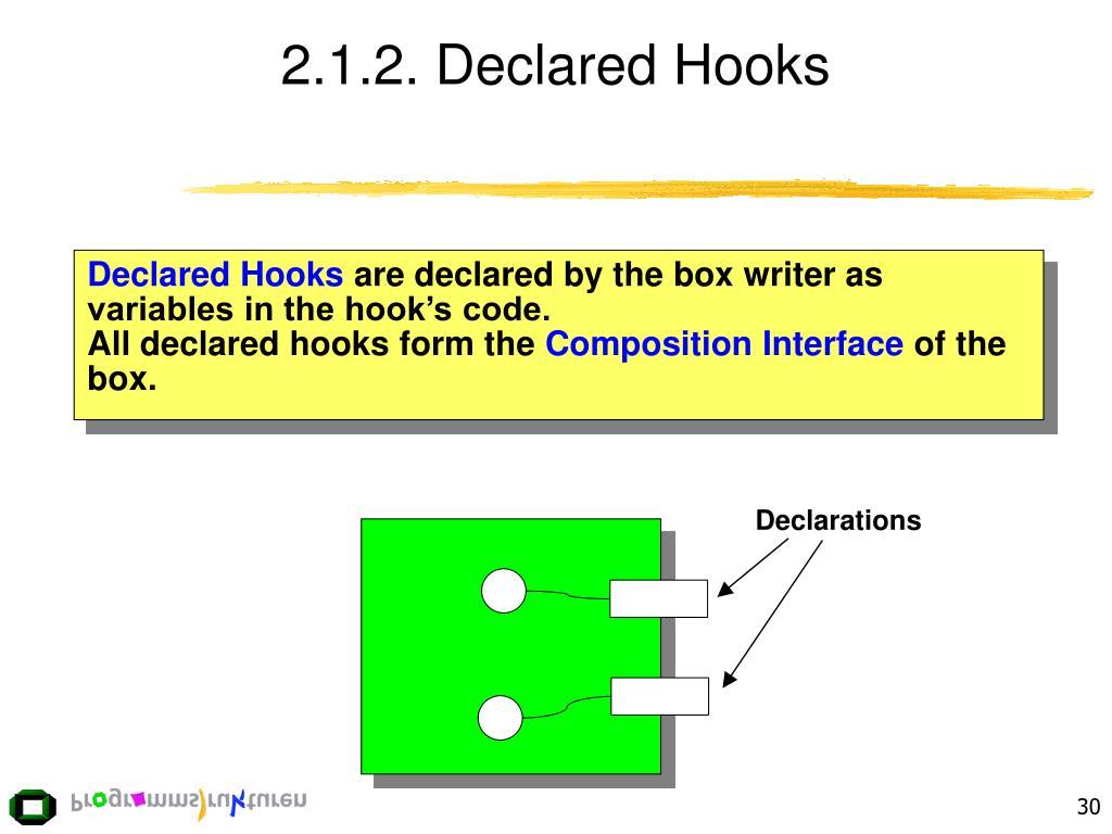 2.1.2. Declared Hooks