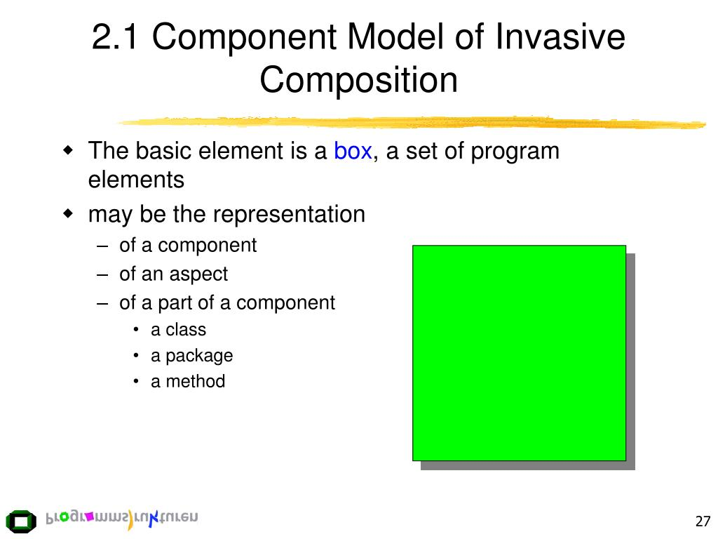2.1 Component Model of Invasive Composition