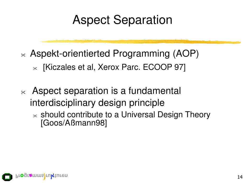 Aspect Separation