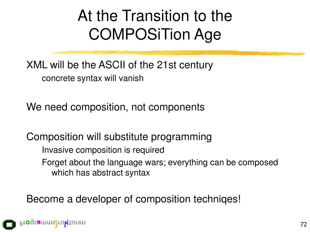 At the Transition to the COMPOSiTion Age