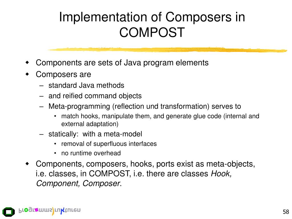 Implementation of Composers in COMPOST