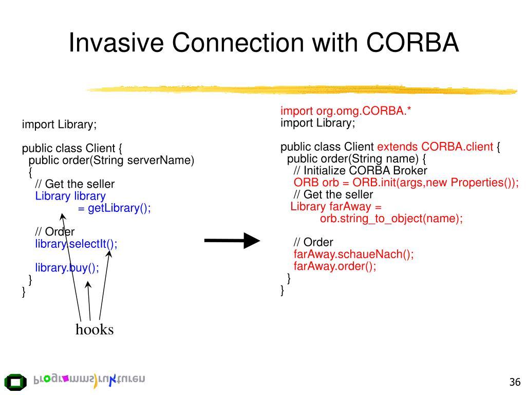 Invasive Connection with CORBA