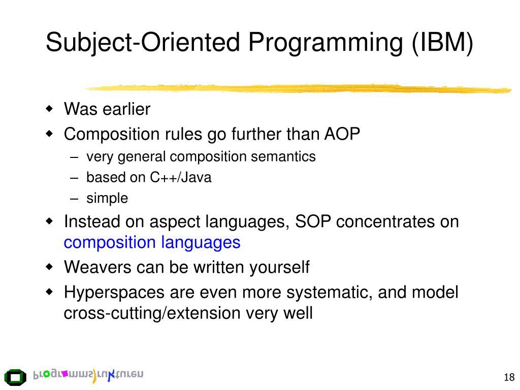 Subject-Oriented Programming (IBM)
