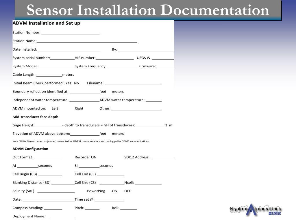 Sensor Installation Documentation