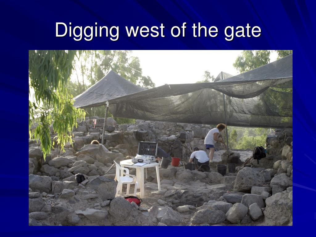 Digging west of the gate