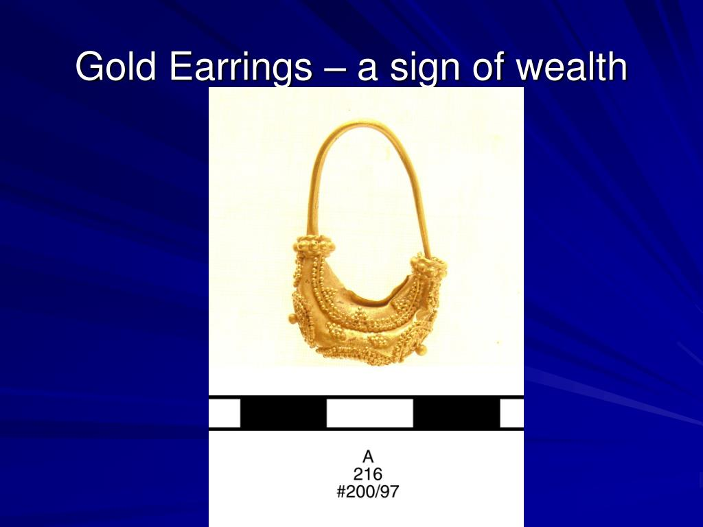 Gold Earrings – a sign of wealth