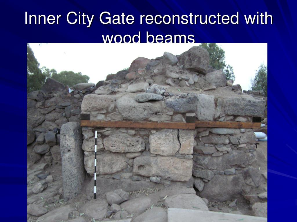 Inner City Gate reconstructed with wood beams