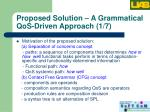 proposed solution a grammatical qos driven approach 1 7
