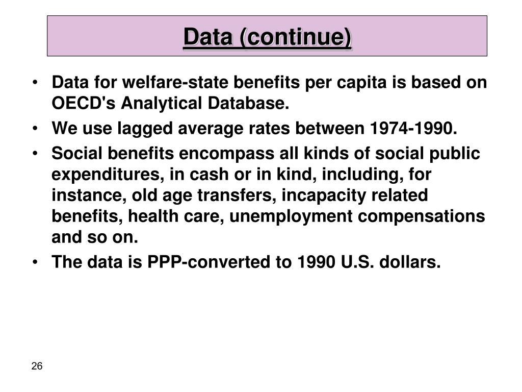 Data (continue)