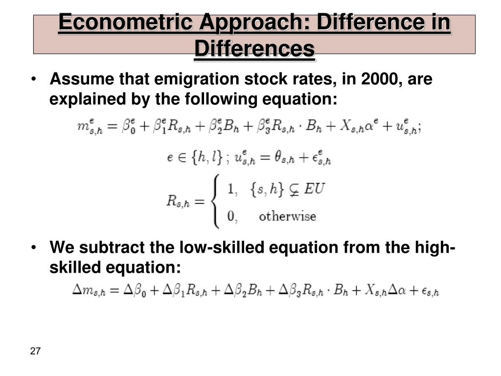 Econometric Approach: Difference in Differences
