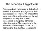 the second null hypothesis