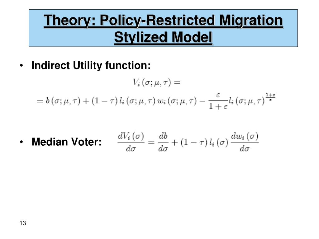 Theory: Policy-Restricted Migration Stylized Model