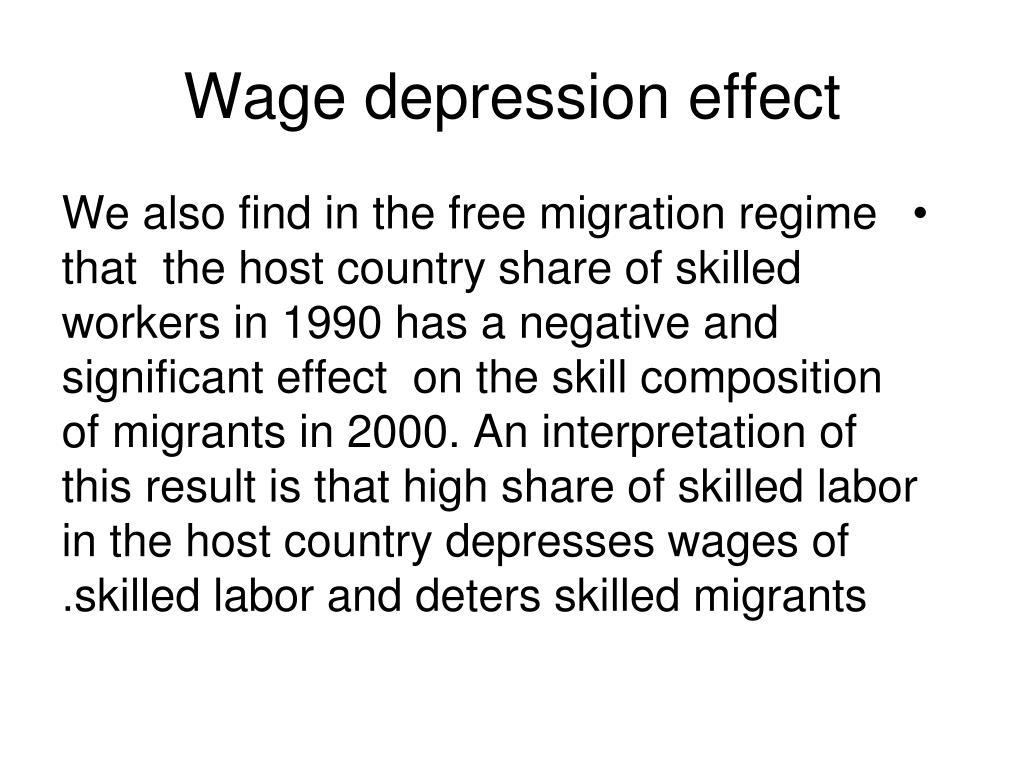 Wage depression effect