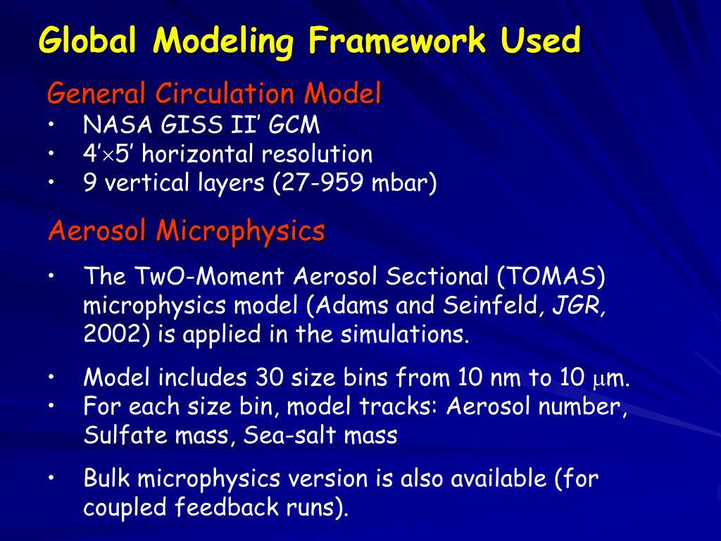 Global Modeling Framework Used