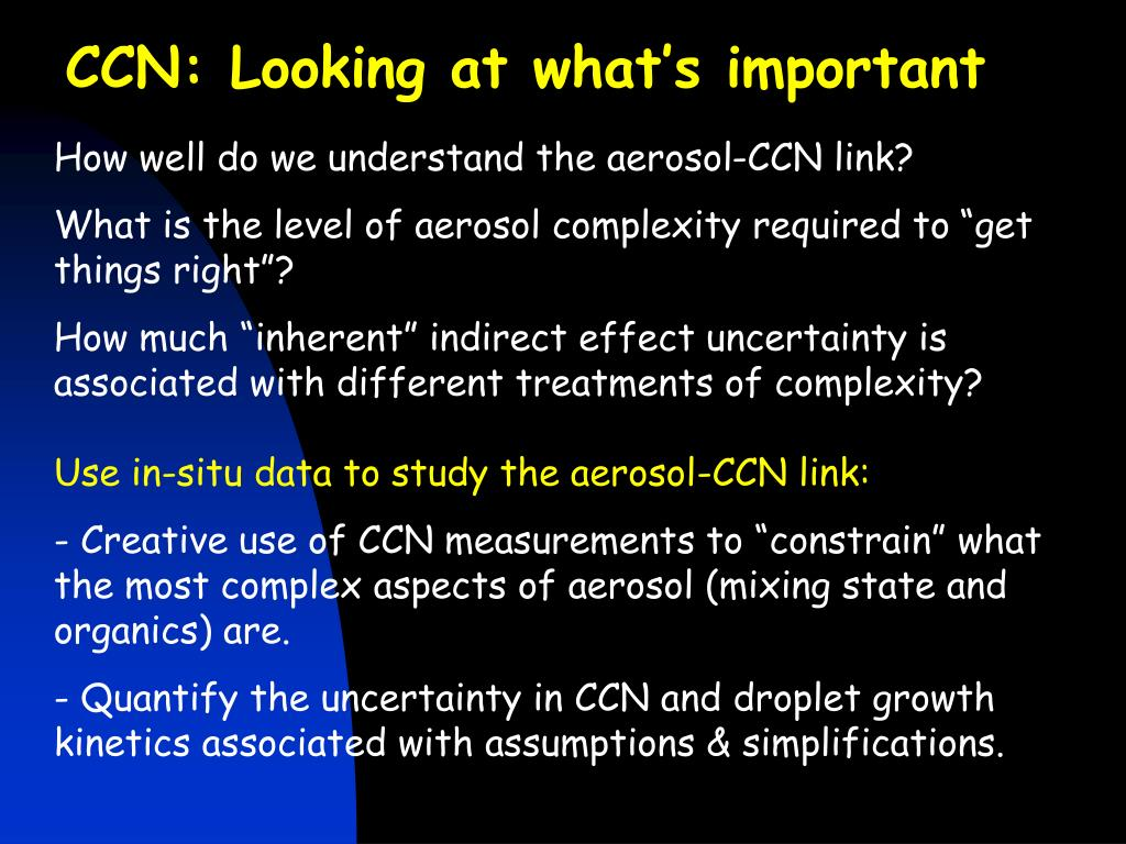 CCN: Looking at what's important