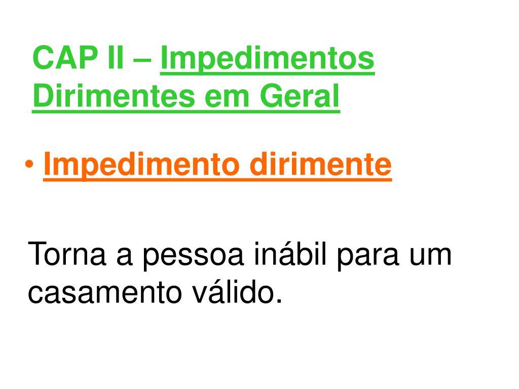 CAP II –