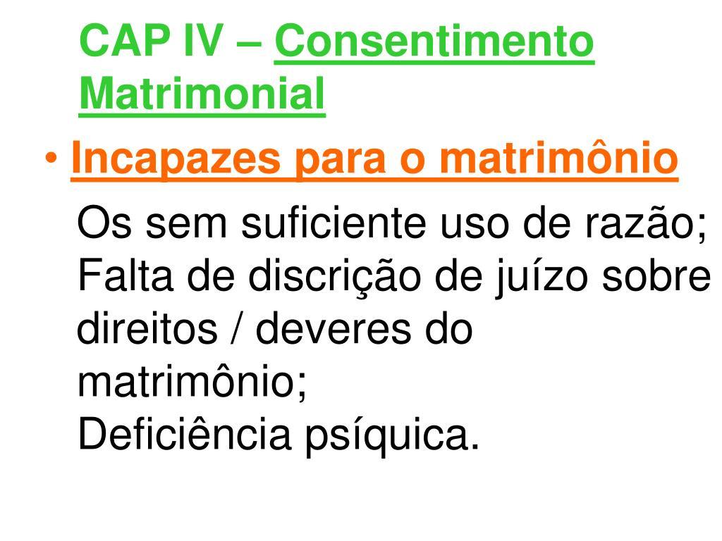 CAP IV –