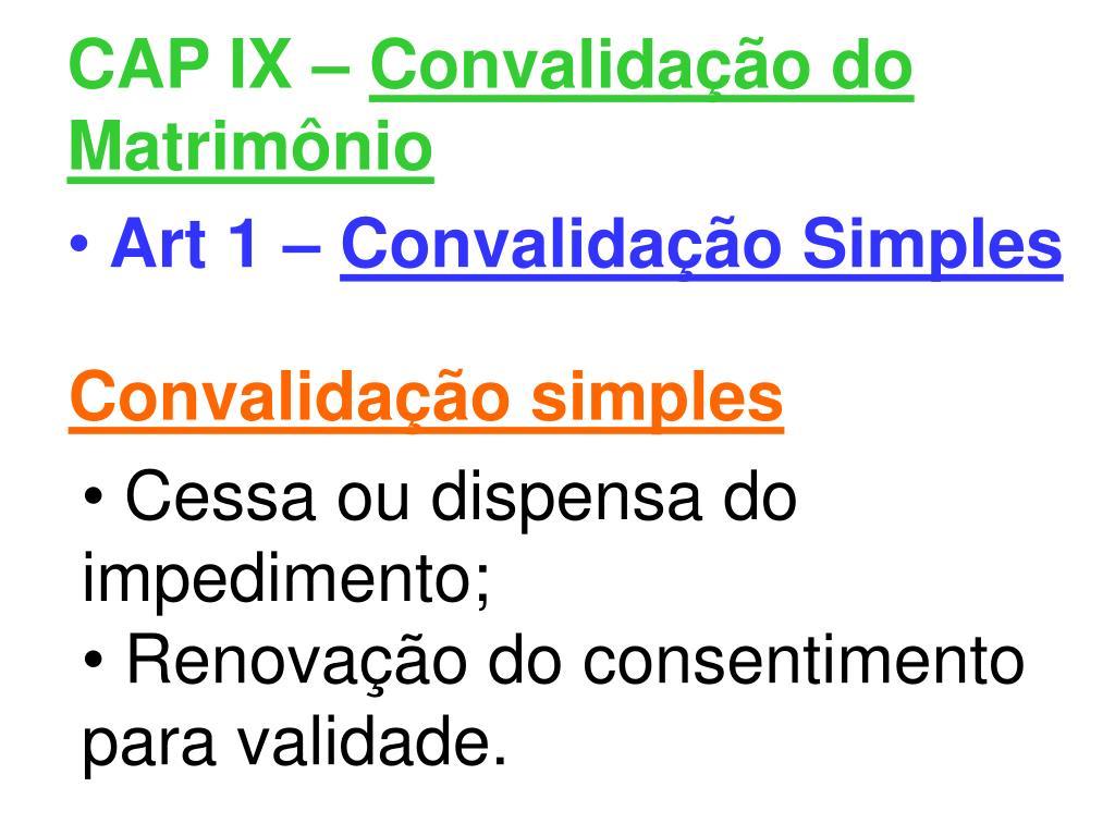CAP IX –